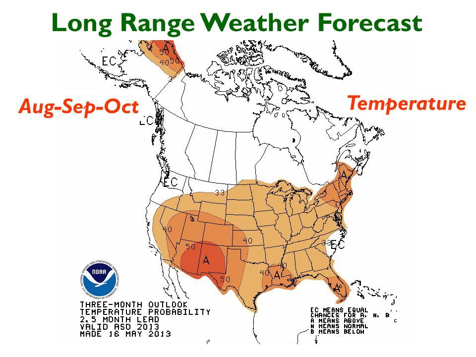 Long Range Weather Forecast Aug-Sep-Oct Temperature