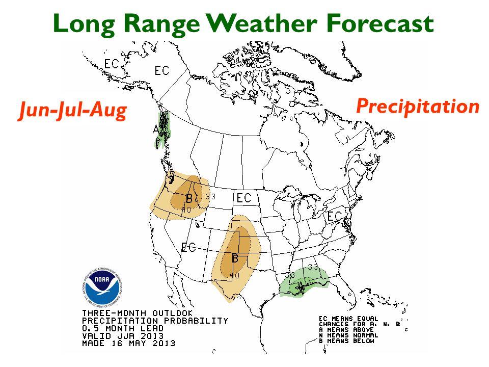 Long Range Weather Forecast Jun-Jul-Aug Precipitation