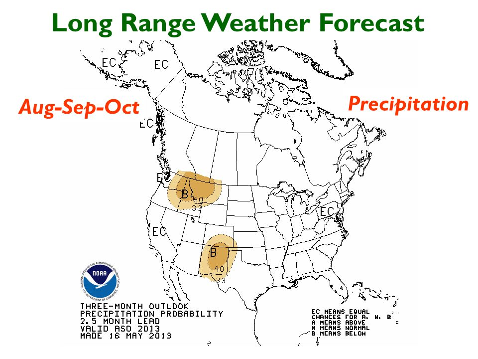 Long Range Weather Forecast Aug-Sep-Oct Precipitation