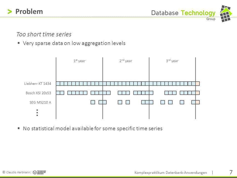 © Claudio Hartmann| | 18 Zielstellungen Einarbeiten in notwendige Technologien Hadoop, RDBMS, verteilte Datenbanken Prognoseansatz (Workload) Verkürzung der Ausführungszeit durch Optimierung des Datentransfers Erarbeiten verschiedener Ansätze zur Datenhaltung Hadoop-basierte Lösungen RDBMS-basierte Lösungen Andere Lösungsansätze.