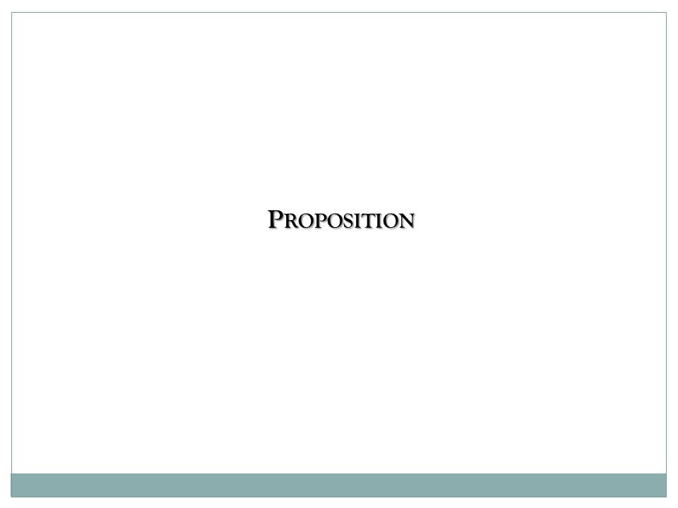 P ROPOSITION