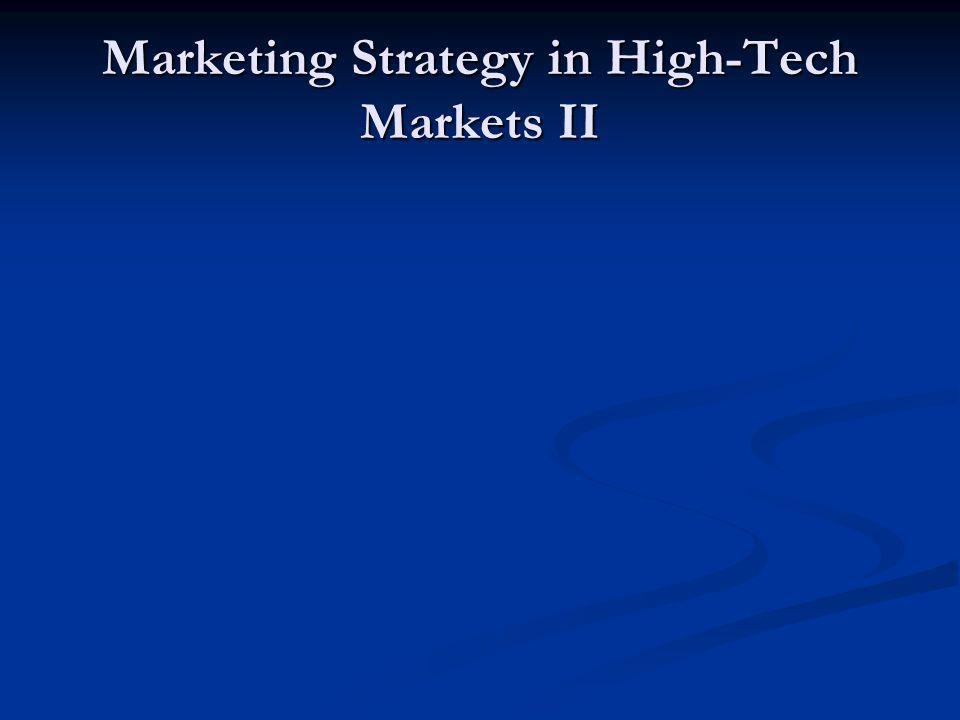 Marketing Strategy in High-Tech Markets II