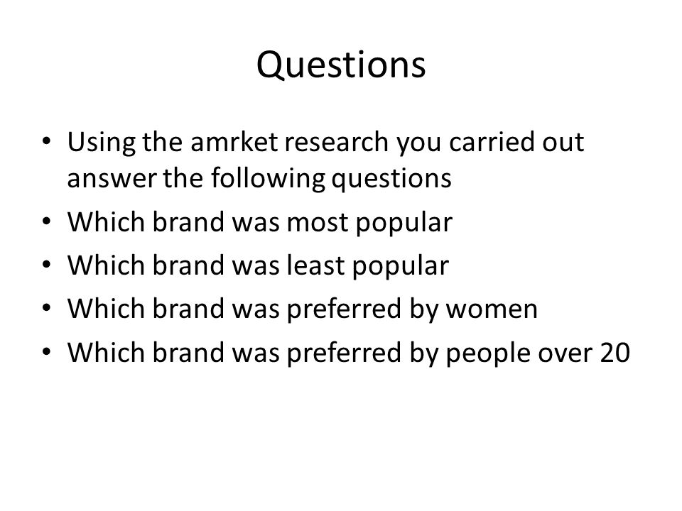 Findings Were you able to answer all the questions? Which ones werent you able to answer? Why