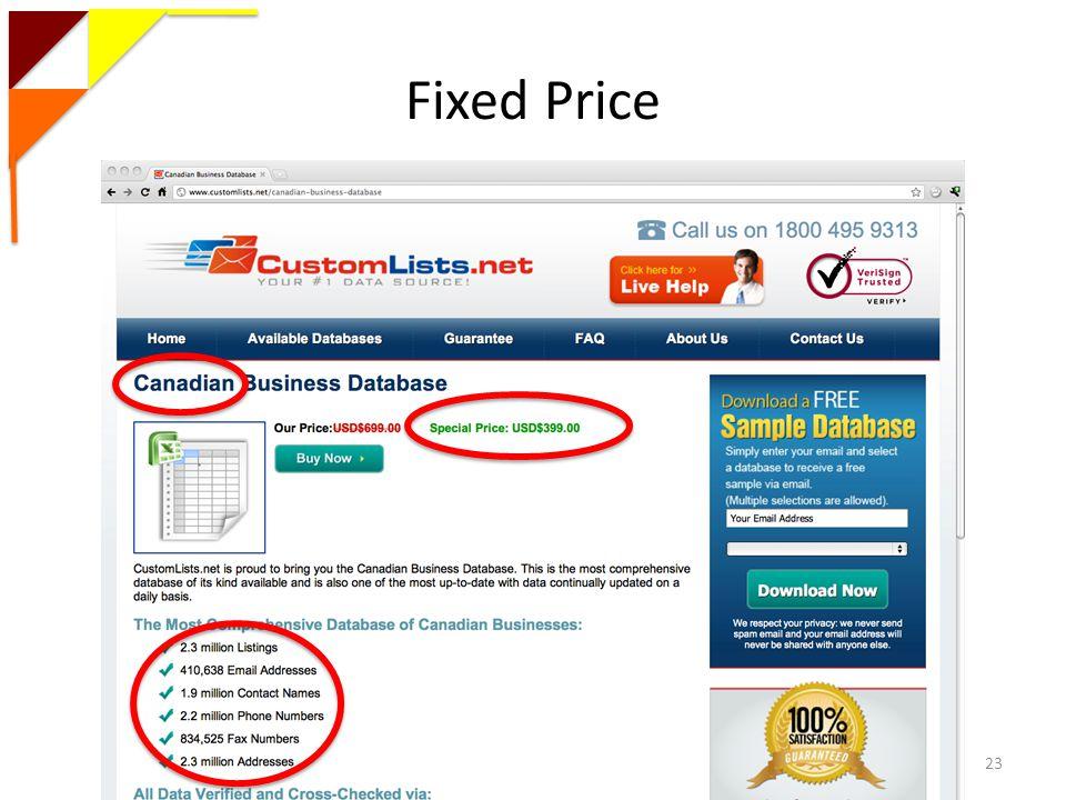 Fixed Price Magdalena Balazinska - University of Washington23