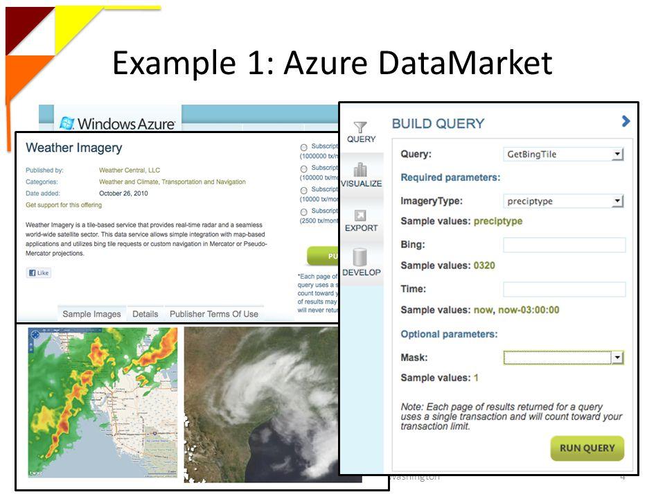 Example 1: Azure DataMarket Magdalena Balazinska - University of Washington4
