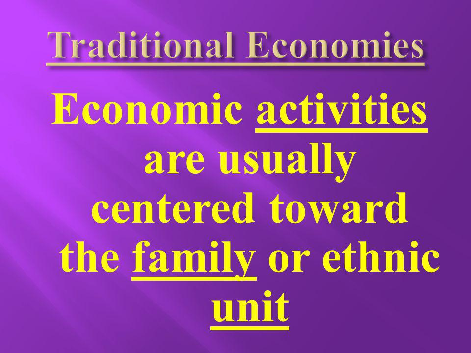 Men and Women are given different economic roles and tasks