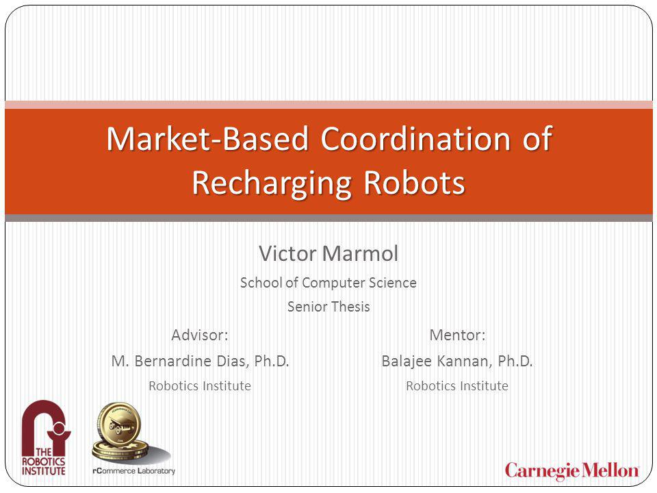 Autonomous Recharging Necessary for any group of mobile robots that are to be effective beyond a short amount of time Robots can run for weeks, months, years Mobile and static recharging units allow a group of worker robots to recharge when necessary Mobile recharger docking with a worker.