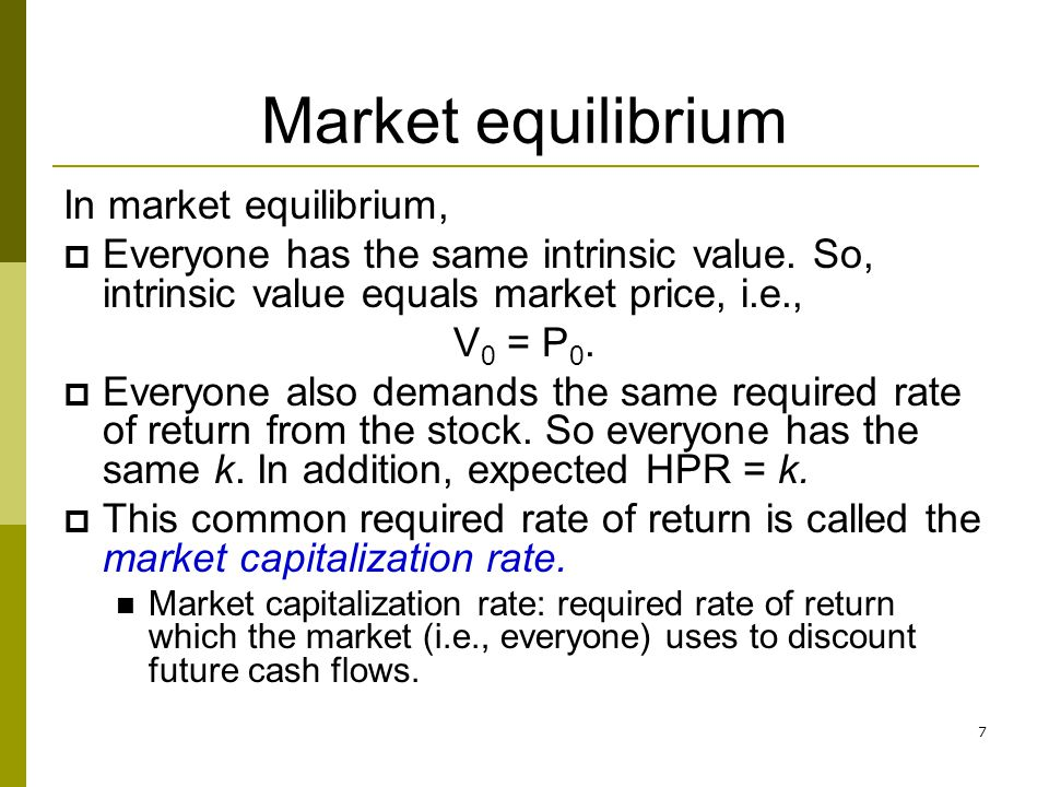 8 Equity valuation models Dividend discount models Constant dividend growth model Multistage (non-constant) dividend growth model Price-earnings ratio (P/E) Free cash flow models