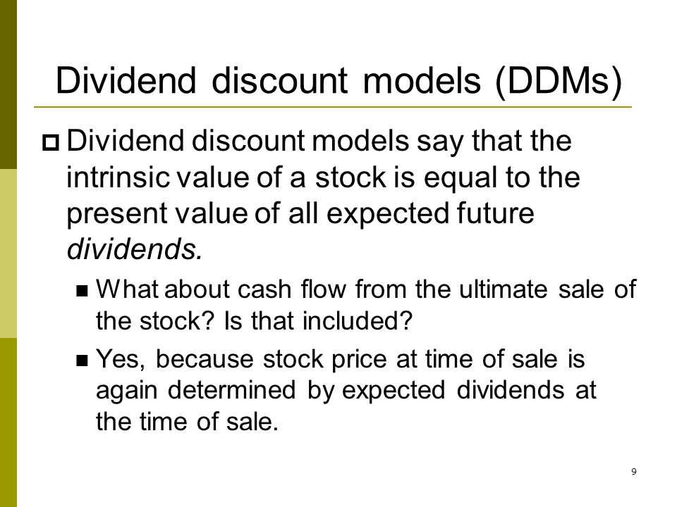 30 Suppose both companies reinvest 60% of next years earnings… Growth Prospects, Inc (GP) Dead Beat, Inc (DB) Earnings retention ratio, b0.6 Next years dividend per share, D 1 = (1 – b) x 5 $2 Dividend growth rate, g = ROE x b 9%6% Constant dividend growth model share price 2/(0.125 – 0.09) = 57.14 2/(0.125 – 0.06) = 30.77