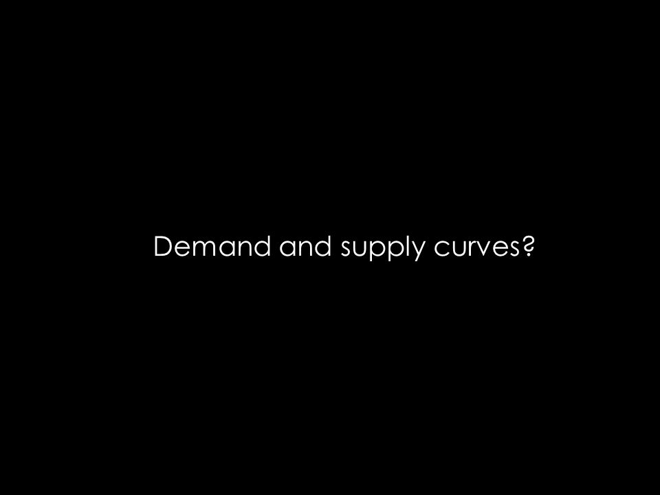 Demand and supply curves?