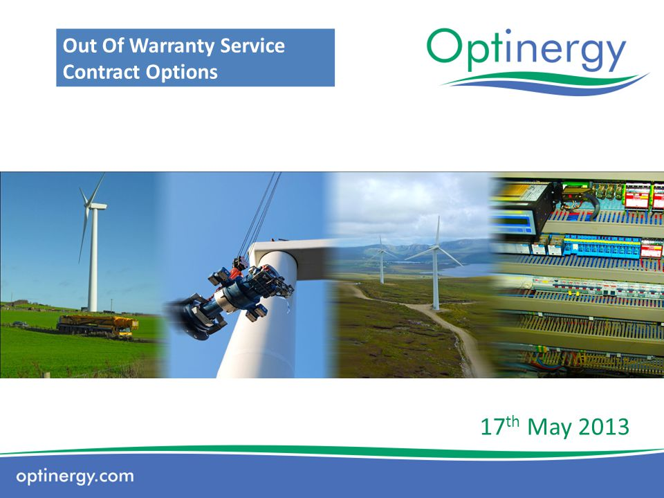 Who We Are: Optinergy are an independent O & M provider based in Co.