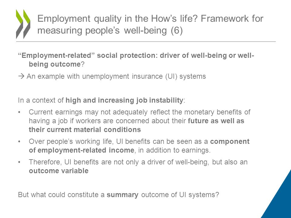 Employment-related social protection: driver of well-being or well- being outcome.