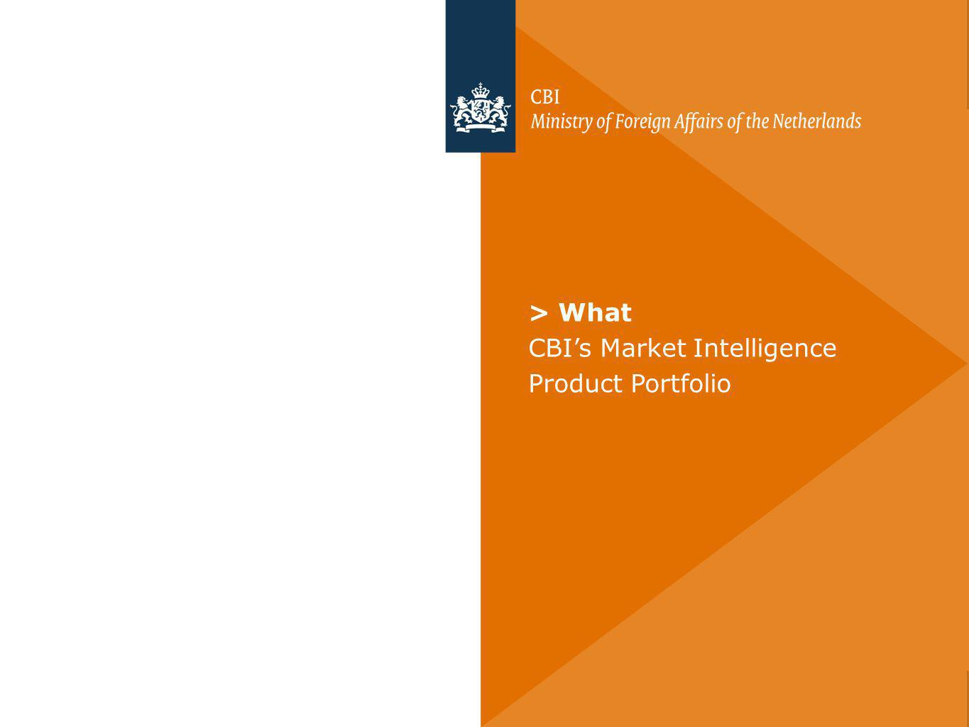 > What CBIs Market Intelligence Product Portfolio
