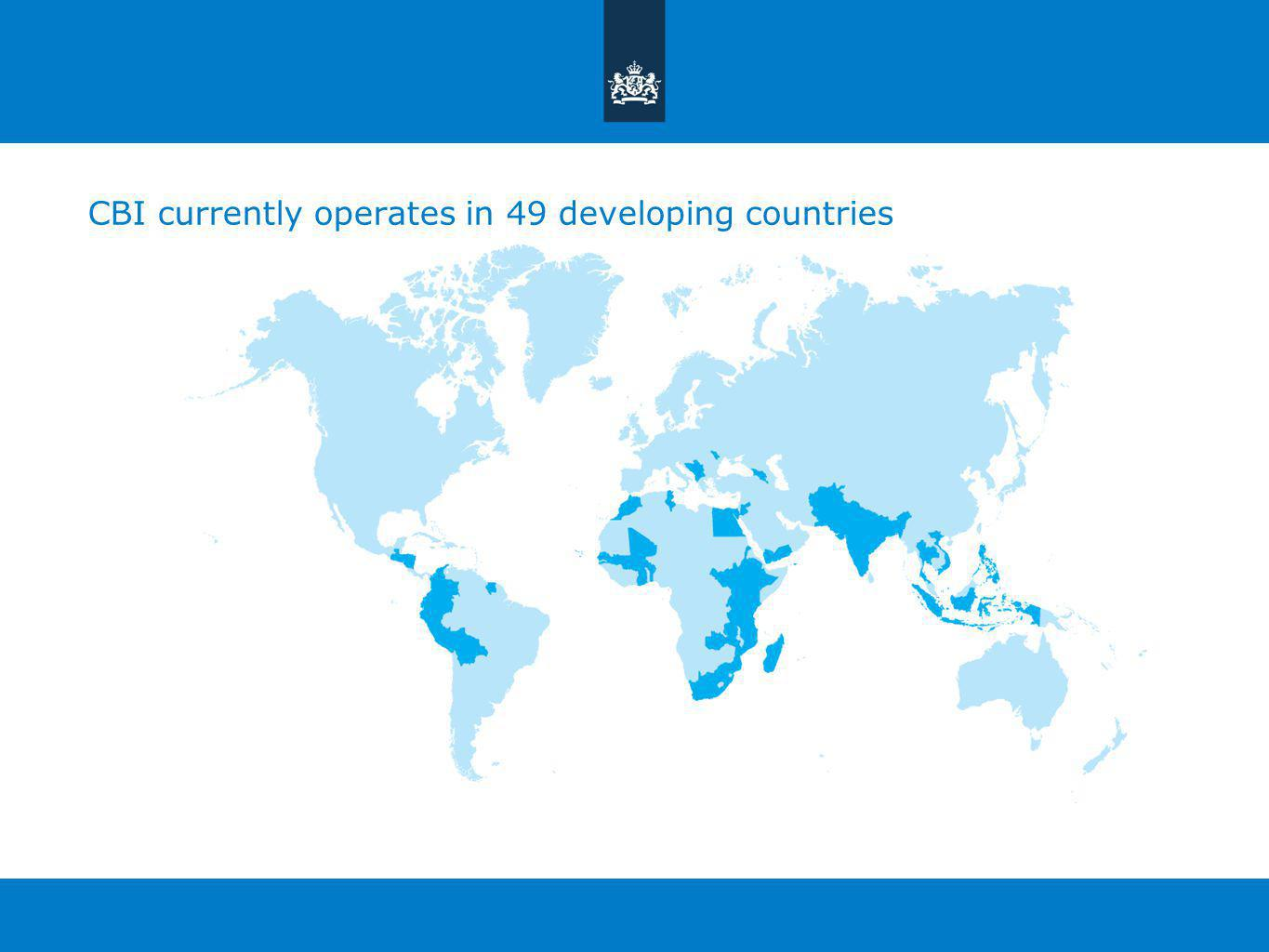 CBI currently operates in 49 developing countries