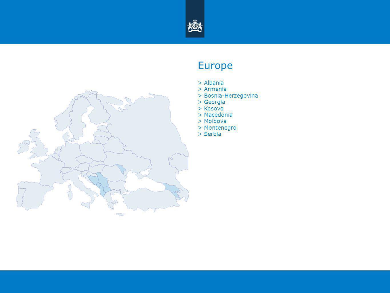 Europe > Albania > Armenia > Bosnia-Herzegovina > Georgia > Kosovo > Macedonia > Moldova > Montenegro > Serbia