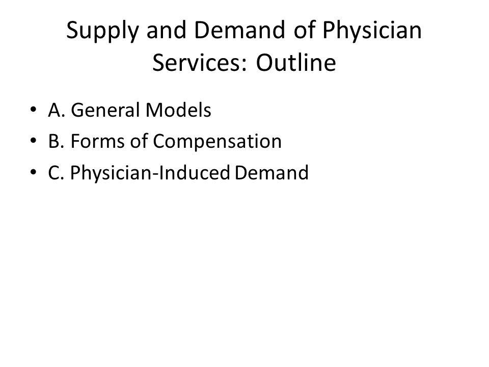 General Models: Outline I.Supply of Physicians II.