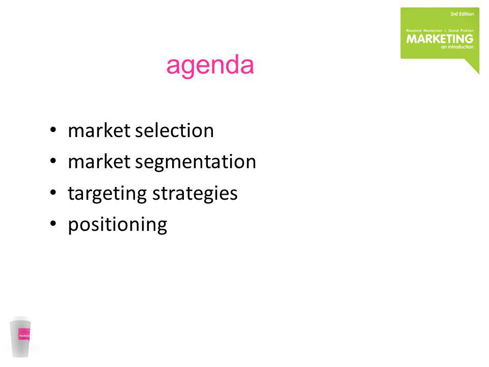 market attractiveness market opportunity competitive advantage the objectives of the organisation