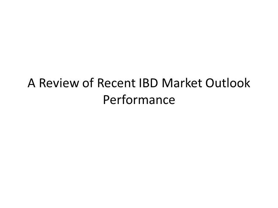 A Review of Recent IBD Market Outlook Performance