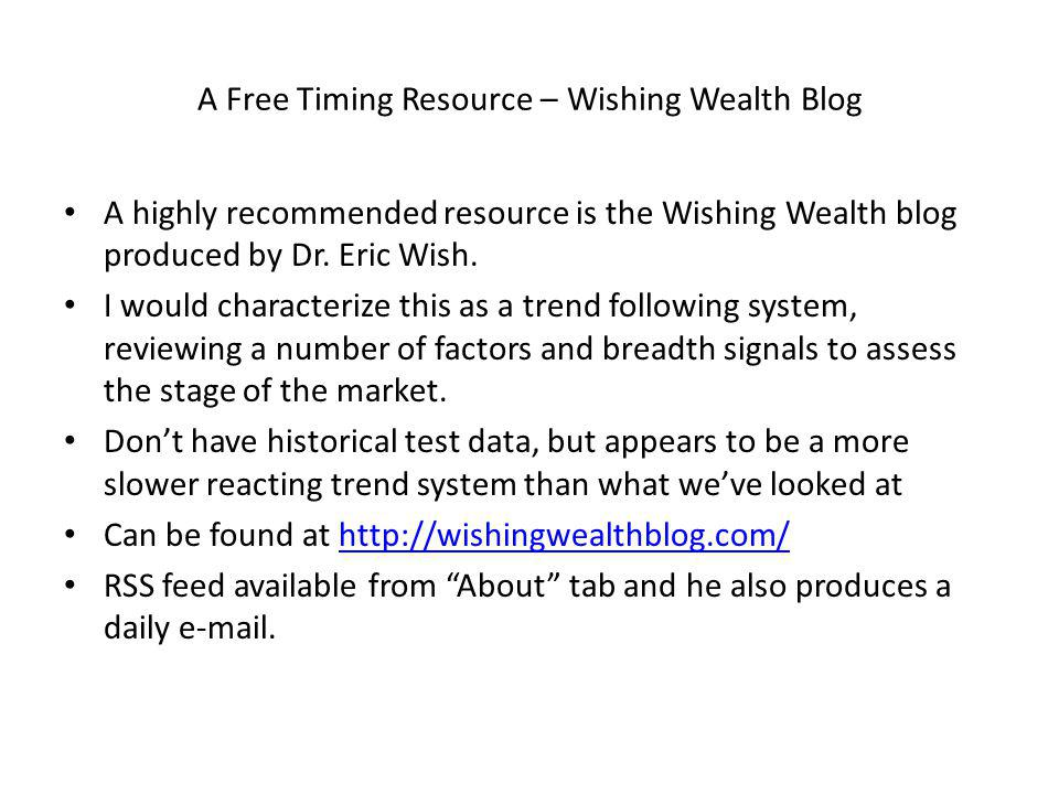A Free Timing Resource – Wishing Wealth Blog A highly recommended resource is the Wishing Wealth blog produced by Dr.