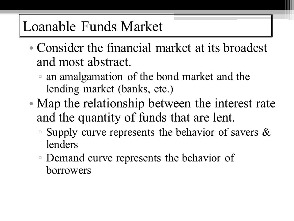Consider the financial market at its broadest and most abstract.