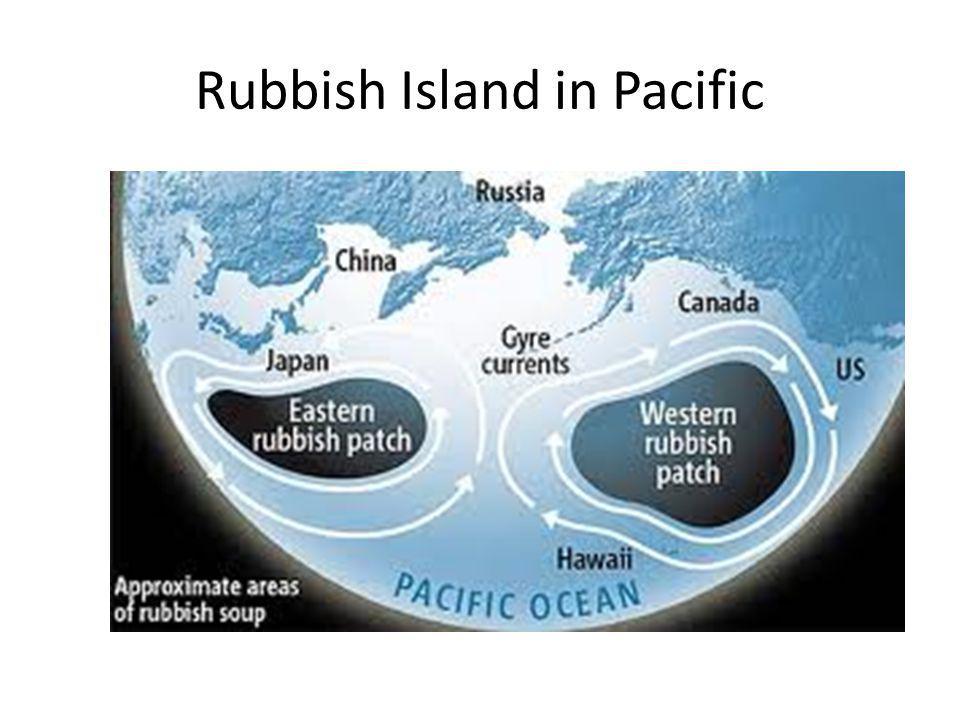 Rubbish Island in Pacific