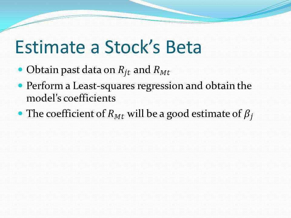 Estimate a Stocks Beta