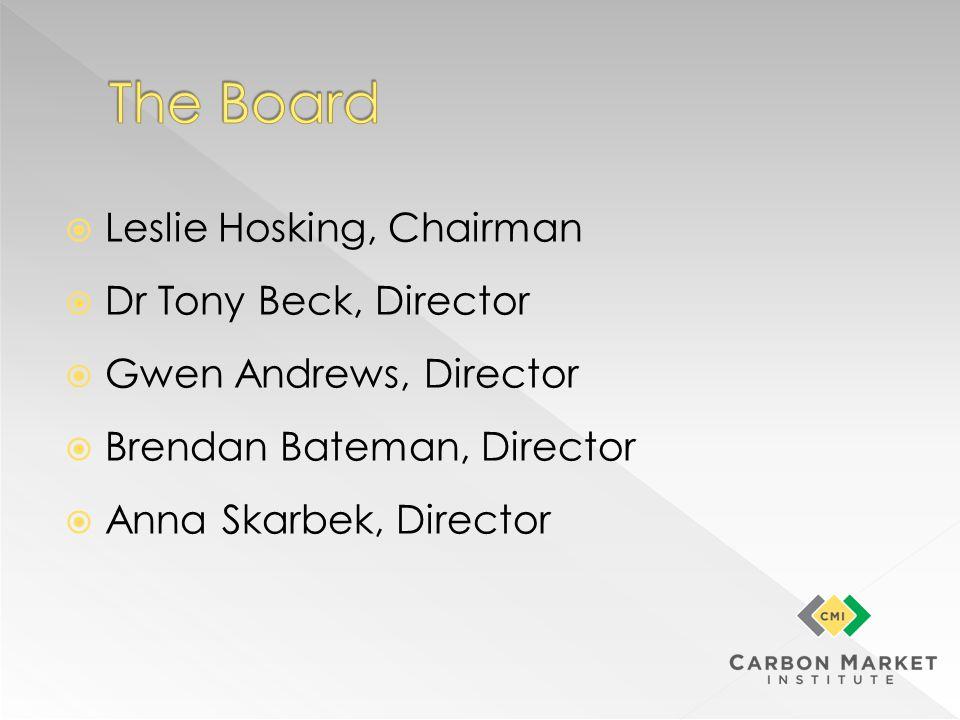 Leslie Hosking, Chairman Dr Tony Beck, Director Gwen Andrews, Director Brendan Bateman, Director Anna Skarbek, Director