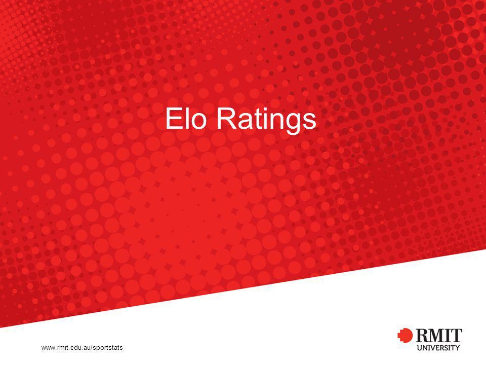 www.rmit.edu.au/sportstats Elo Ratings