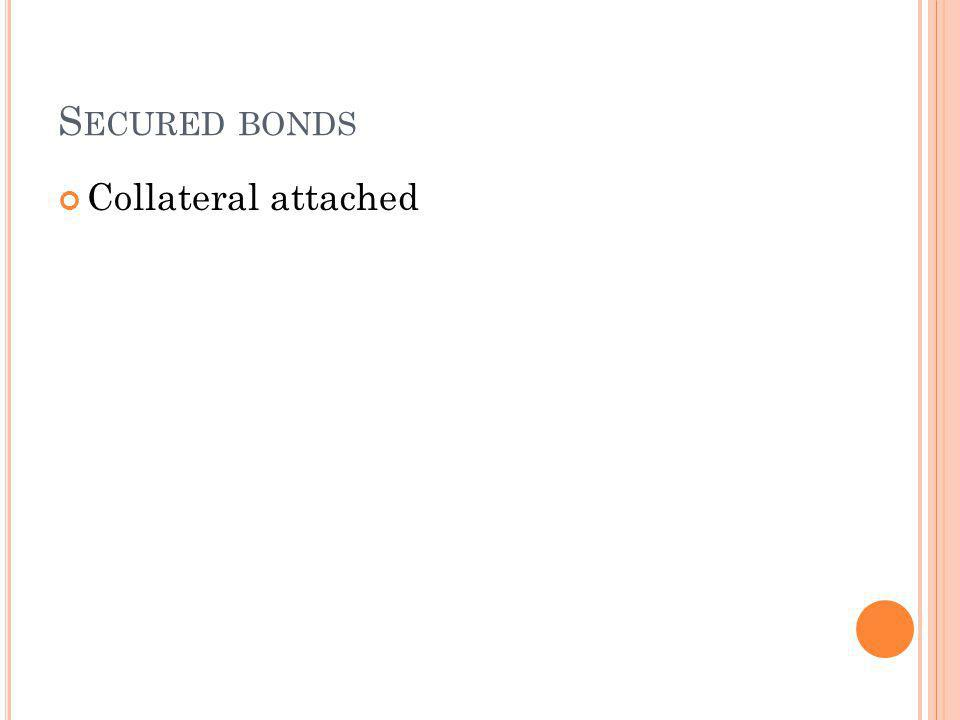 S ECURED BONDS Collateral attached