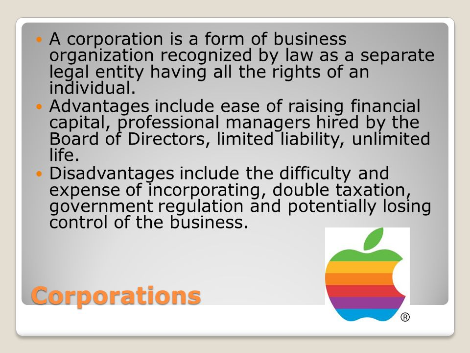 BUSINESS ORGANIZATIONS AND MARKET STRUCTURES. Forms of Business ...