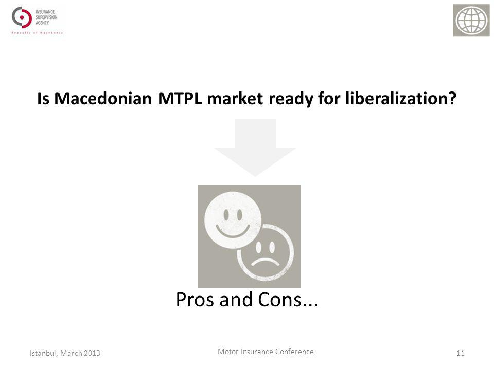 Is Macedonian MTPL market ready for liberalization.