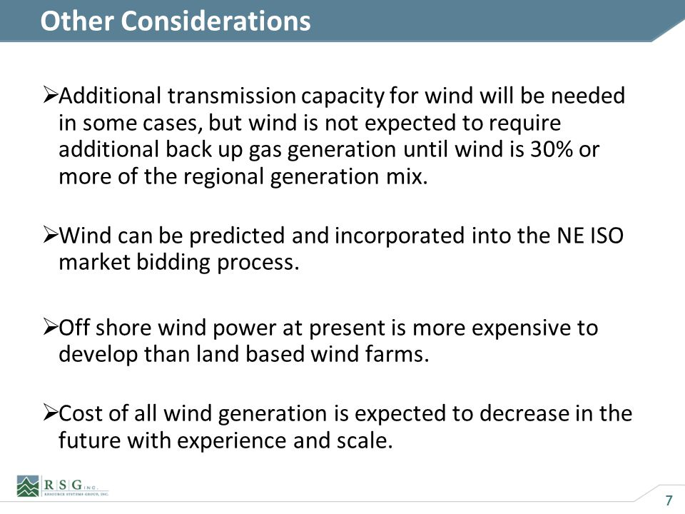 8 Conclusions Wind is the best option for providing large amounts of near zero emission power in Maine in the next one or two decades at a cost comparable to fossil fuels.