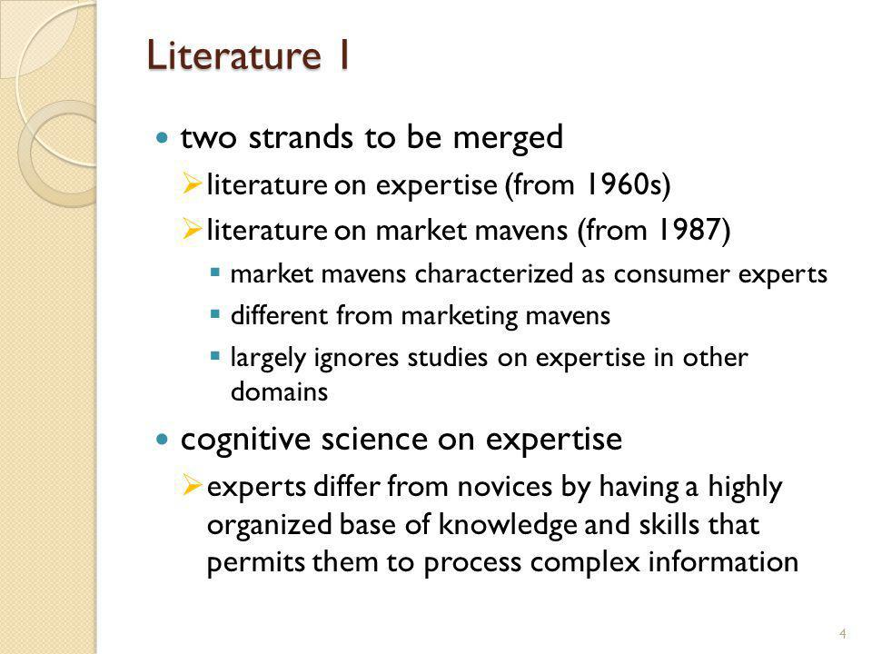 Literature 2 extra knowledge, abilities and skills of experts decision-making styles are different seven characteristic differences of experts more specialized domain-specific more synthetic vision of their domain (superior information process information faster than novices utilize memory more efficiently (< organization) process information at deeper level process information more intensively remember errors and learn from them 5