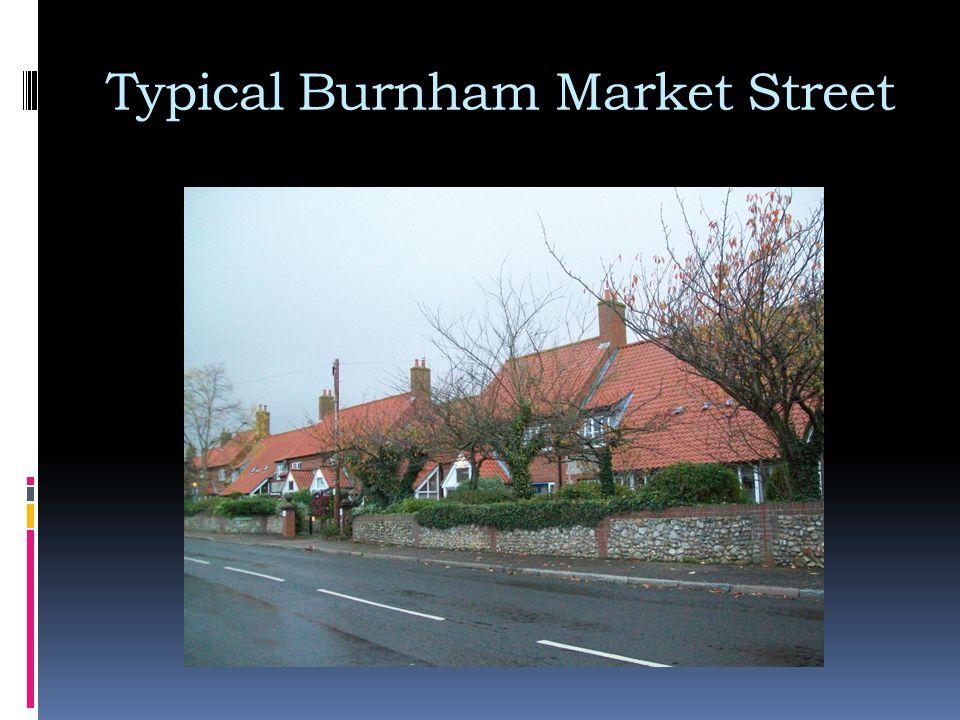 Typical Burnham Market Street