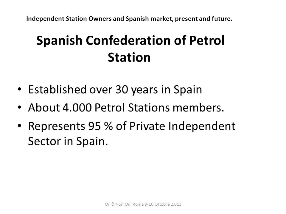 Independent Station Owners and Spanish market, present and future.