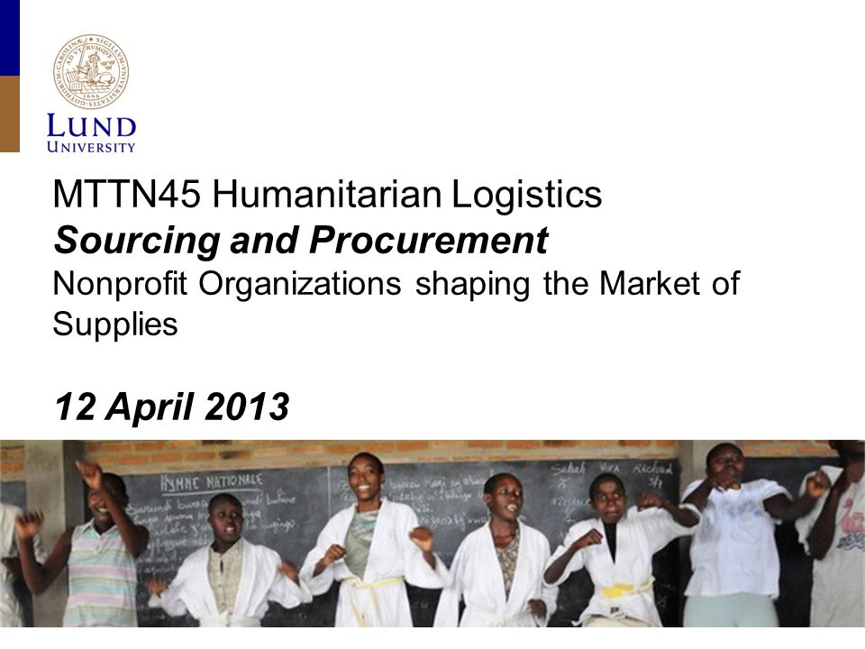 Content Purchasing power in the humanitarian sector Impact of purchasing power on purchasing strategies The case of vaccine procurement Nonprofit organizations shaping their supply market