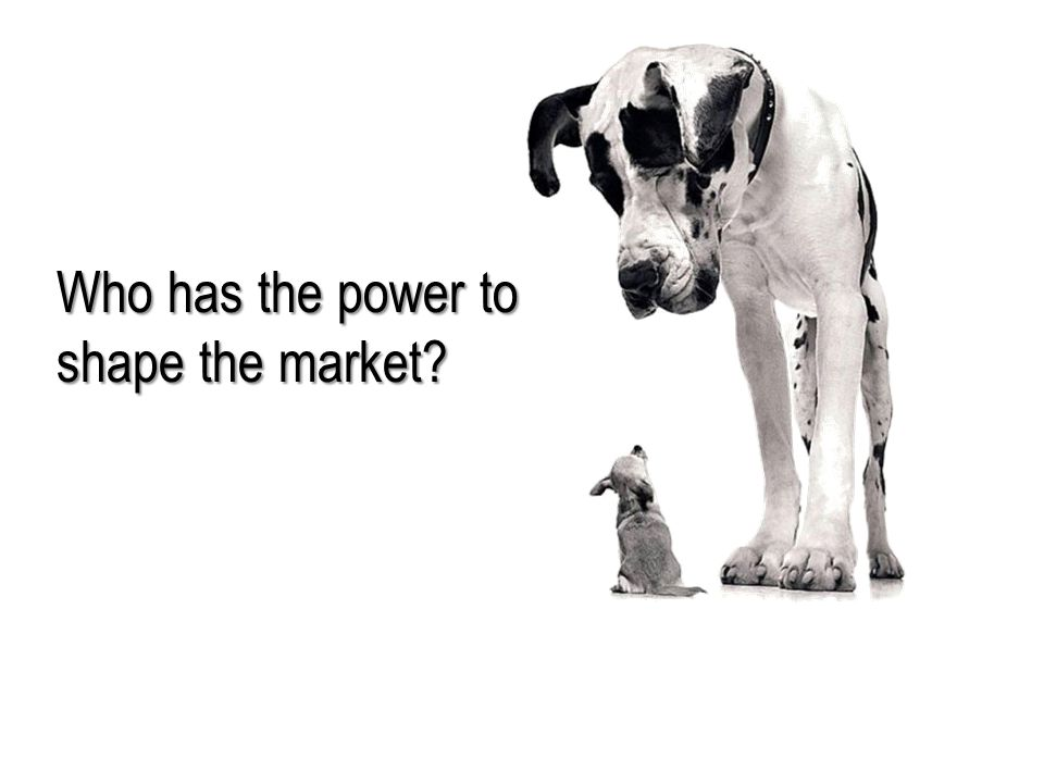 Who has the power to shape the market?