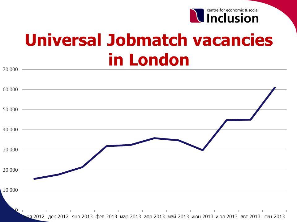 Universal Jobmatch vacancies in London