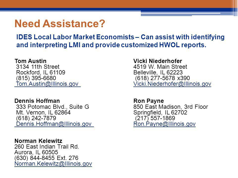 Need Assistance. Tom AustinVicki Niederhofer 3134 11th Street 4519 W.