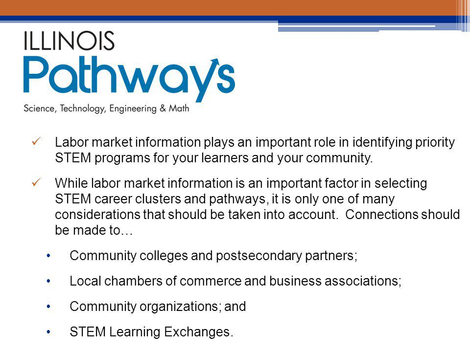 Labor market information plays an important role in identifying priority STEM programs for your learners and your community.