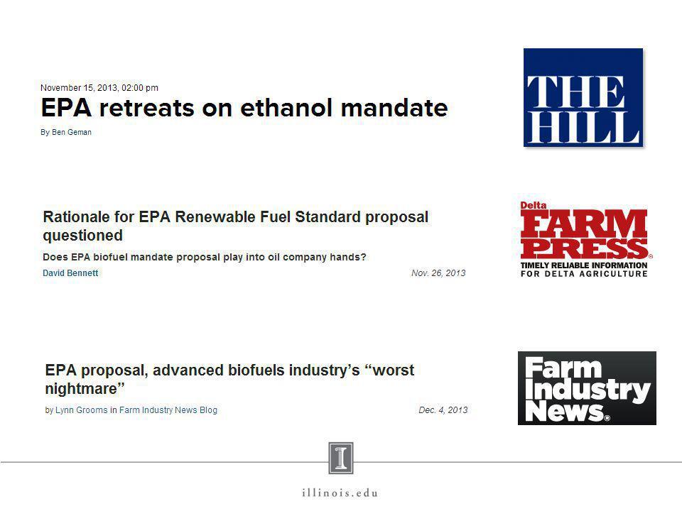 EPA Proposed 2014 RVOs