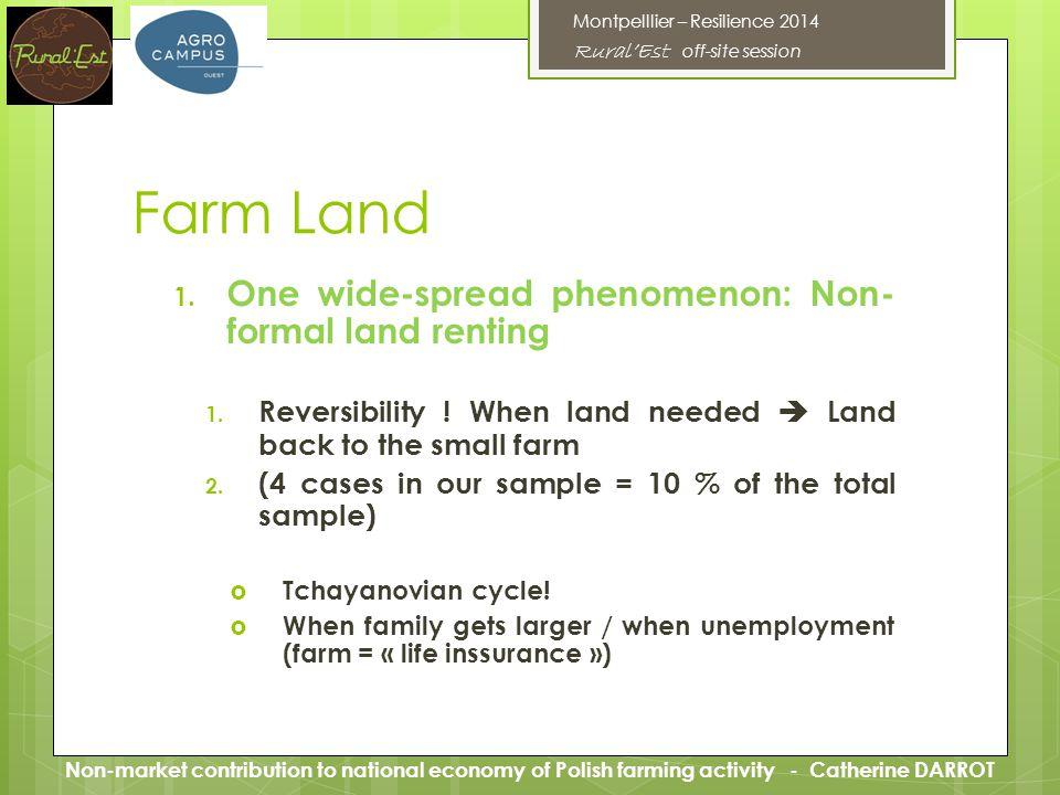 Farm Land 1. One wide-spread phenomenon: Non- formal land renting 1.