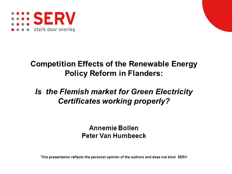 When preparing or evaluating energy regulation, is it important to assess the effects and impacts on market competition This information is crucial to good policy decisions in the energy sector Today in Flanders, competition and market effects are not assessed ex ante nor ex post by market regulator VREG or the energy agency VEA VREG should get its priorities right, and develop a greater capacity for adequate market analysis and regulation; only VREG has the legal powers to collect the necessary information Case study: GC Main Messages (1): Competition Assessment