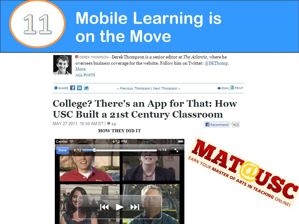 Mobile Learning is on the Move