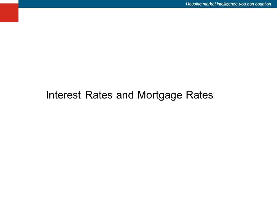 Housing market intelligence you can count on Interest Rates and Mortgage Rates