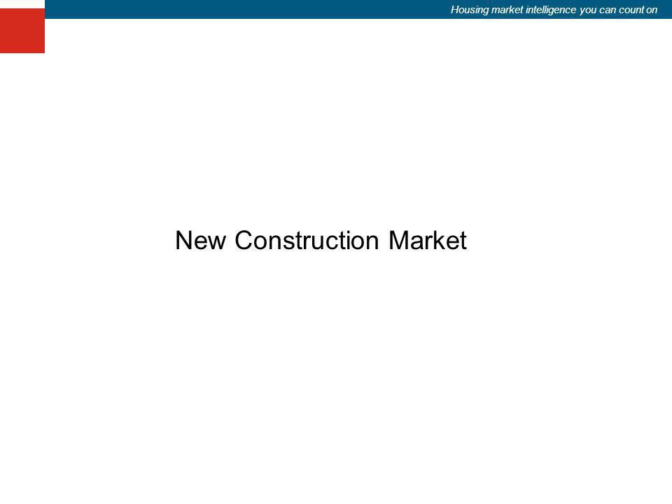 Housing market intelligence you can count on New Construction Market