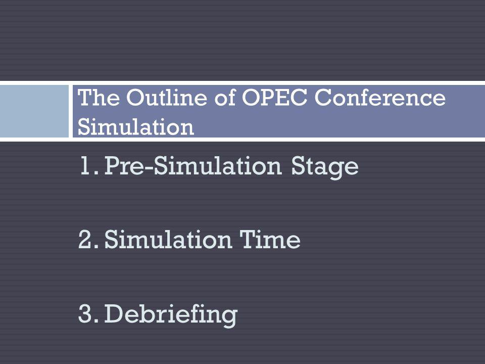 The Simulation Background February-April, 2011: 1.