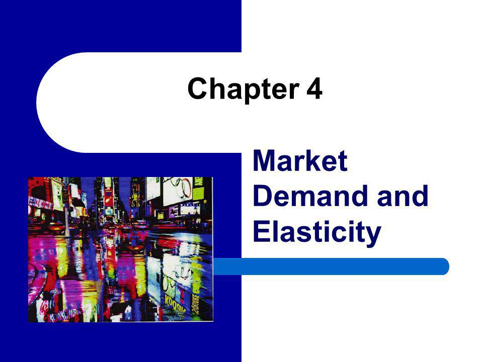 22 Price Elasticity and the Shape of the Demand Curve We often classify market demand curves by their elasticities – For example, the market demand curve for medical services is inelastic (nearly vertical) since there is little quantity response to changes in price.