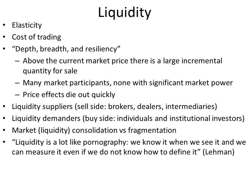 Market maker The MM conjectures that the informed traders demand is linear in v, i.e.