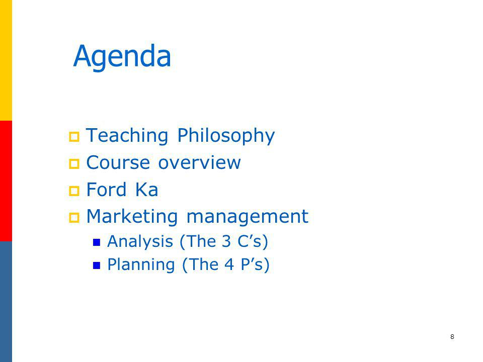 29 4Ps: Marketing Planning - Price, Promotion, Place, Product 4Ps: Marketing Planning - Product, Price, Place, Promotion